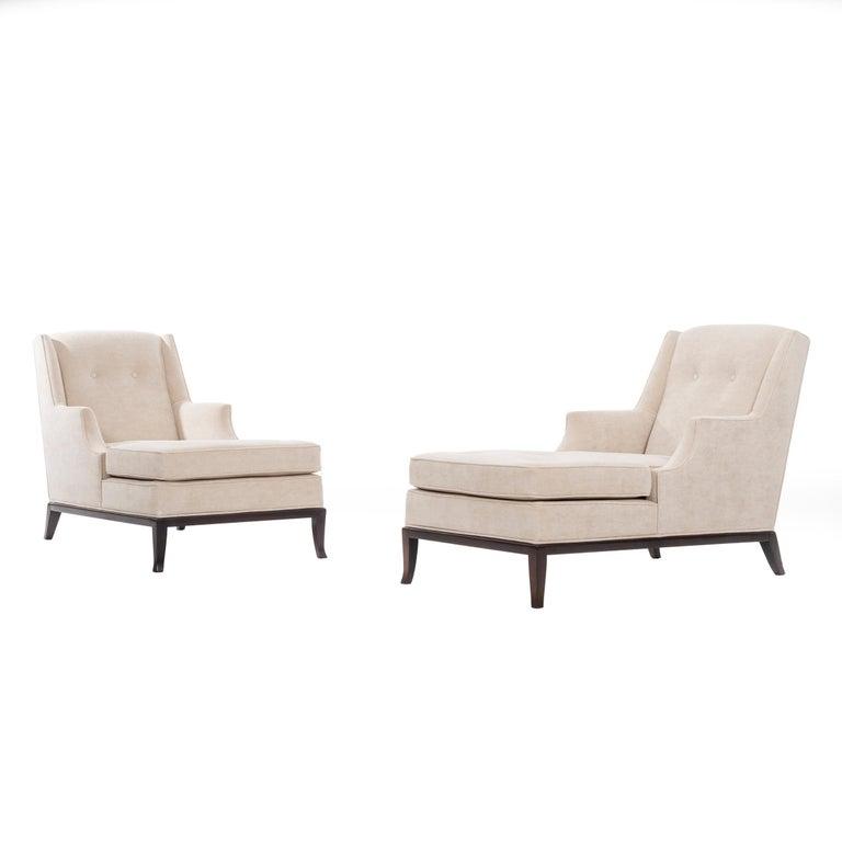 Pair of Robsjohn-Gibbings Chaise Longues For Sale