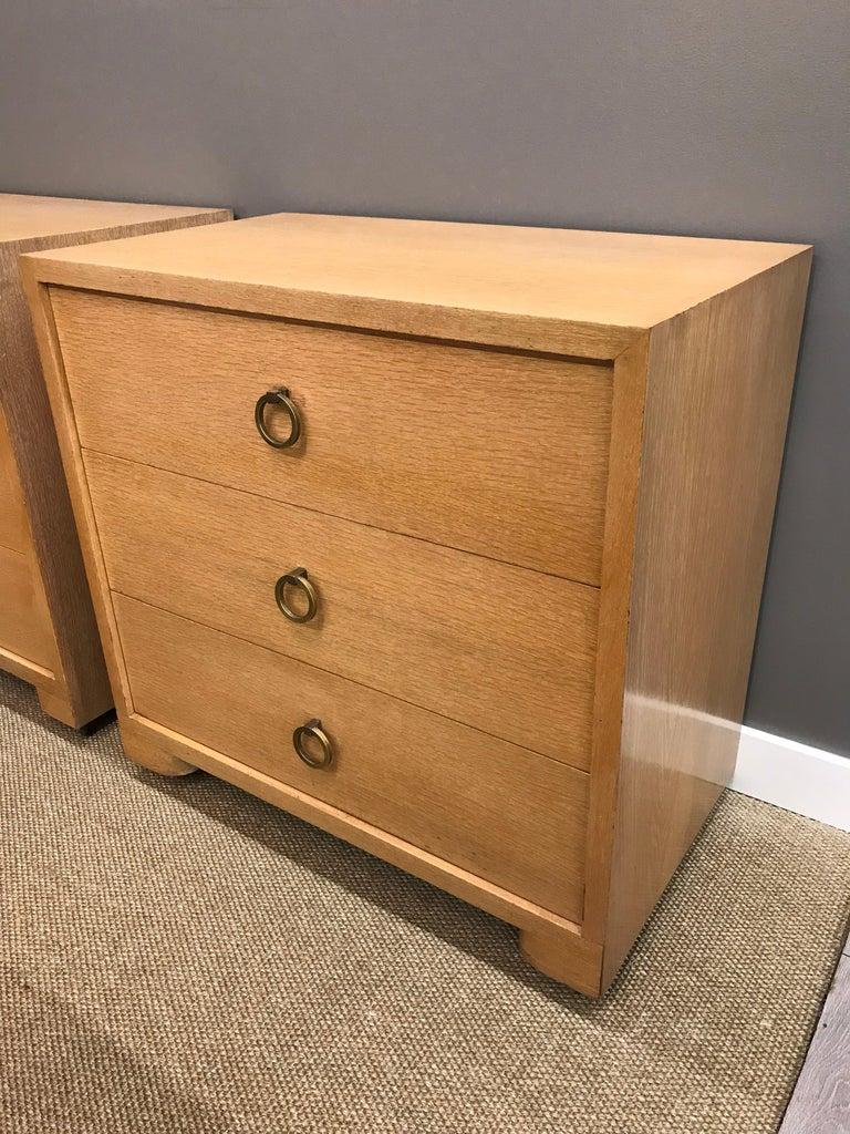 Pair of Robsjohn Gibbings Mid-Century Modern Dressers Chest of Drawers For Sale 3