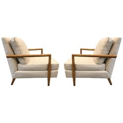 Pair of Robsjohn-Gibbings Style Lounge Chairs