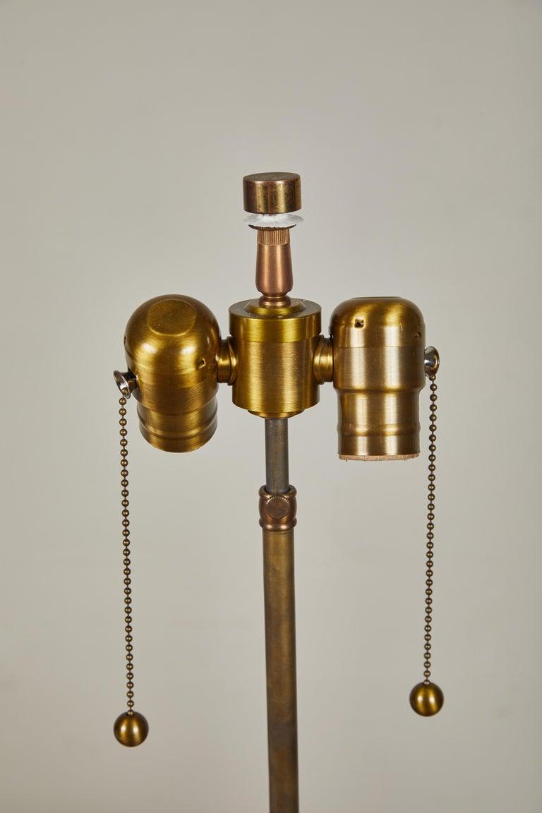 Marble Pair of Robsjohn-Gibbings Table Lamps For Sale