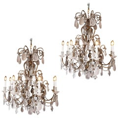 Pair of Rock Crystal Chandeliers