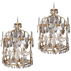 Beautiful Pair of Rock Crystal Lanterns