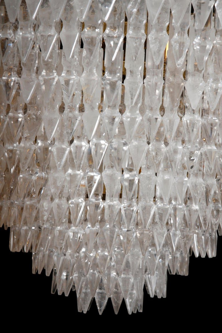 Pair of Rock Crystal Myrzah Chandeliers In Excellent Condition For Sale In London, GB