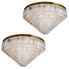 Pair of Rock Crystal Myrzah Chandeliers