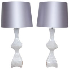 Pair of Rock Crystal Table Lamps