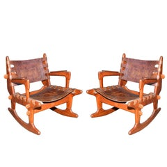 Pair of Rocking Chair in Mahogany
