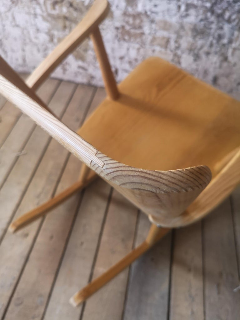Pair of Rocking Chair in Pine, Göran Malmvall, Sweden, 1940s For Sale 7