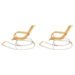 Pair of Rocking Chairs, France, circa 1960
