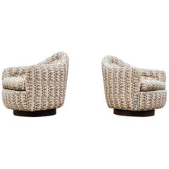 Pair of Rocking Swivel Chairs by Milo Baughman