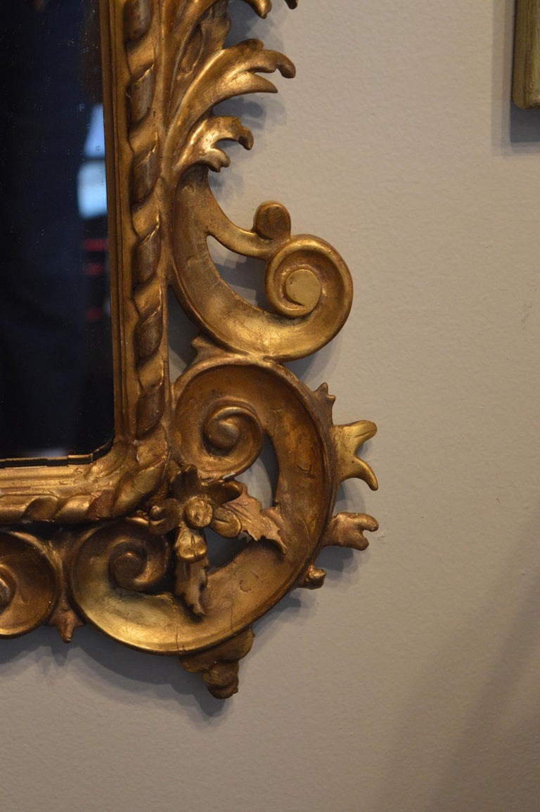 Pair of Rococo Classical Giltwood Mirrors In Good Condition For Sale In Los Angeles, CA