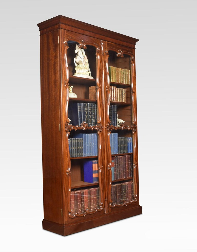 Pair of Rococo Revival Mahogany Bookcases For Sale 5