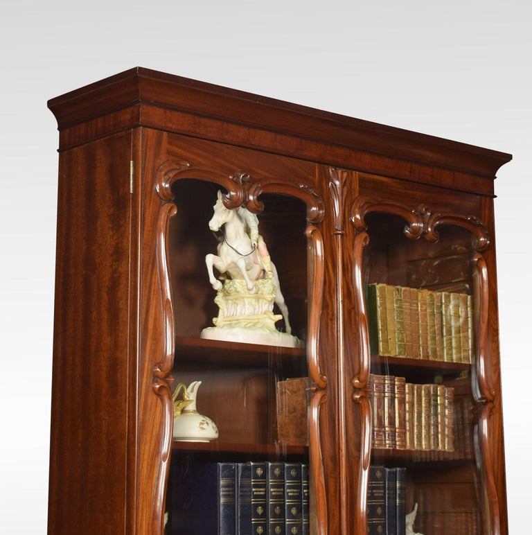 Pair of Rococo Revival Mahogany Bookcases For Sale 2