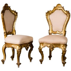 Pair of Rococo Style Chairs