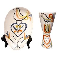 Pair of Roger Capron French Ceramics Vallauris, 1960