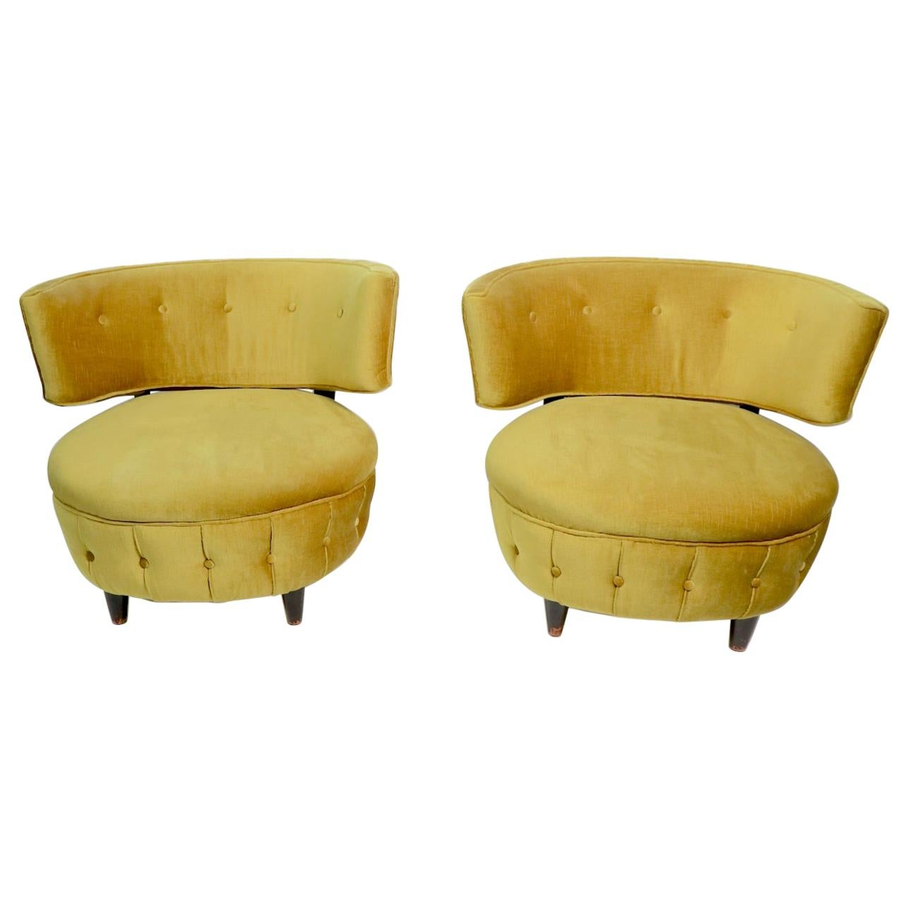 Pair of Rohde for Herman Miller Lounger Slipper Chairs