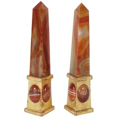 Pair of Roman Sardonyx Obelisks