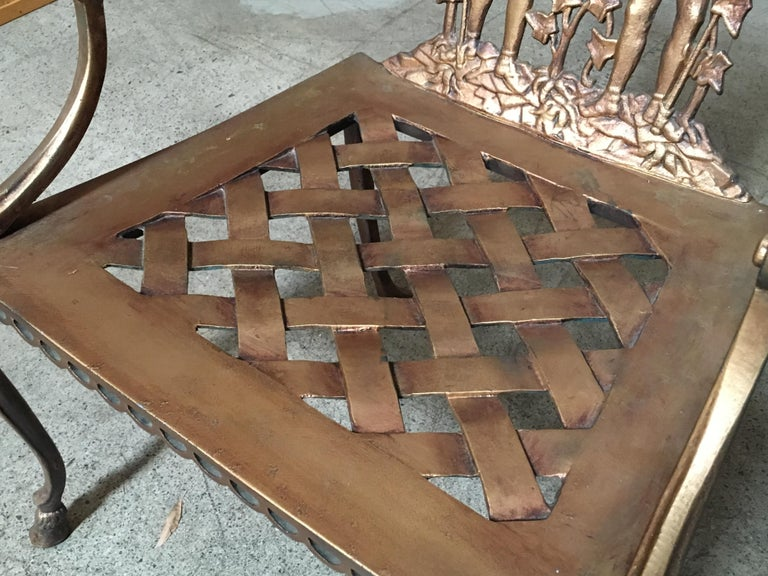 Pair of Romanesque Garden Chairs For Sale 2