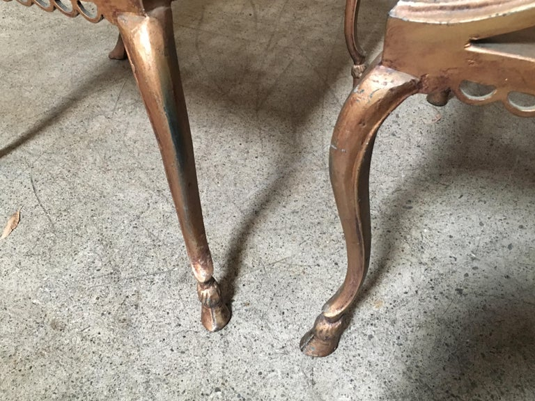 Pair of Romanesque Garden Chairs For Sale 5