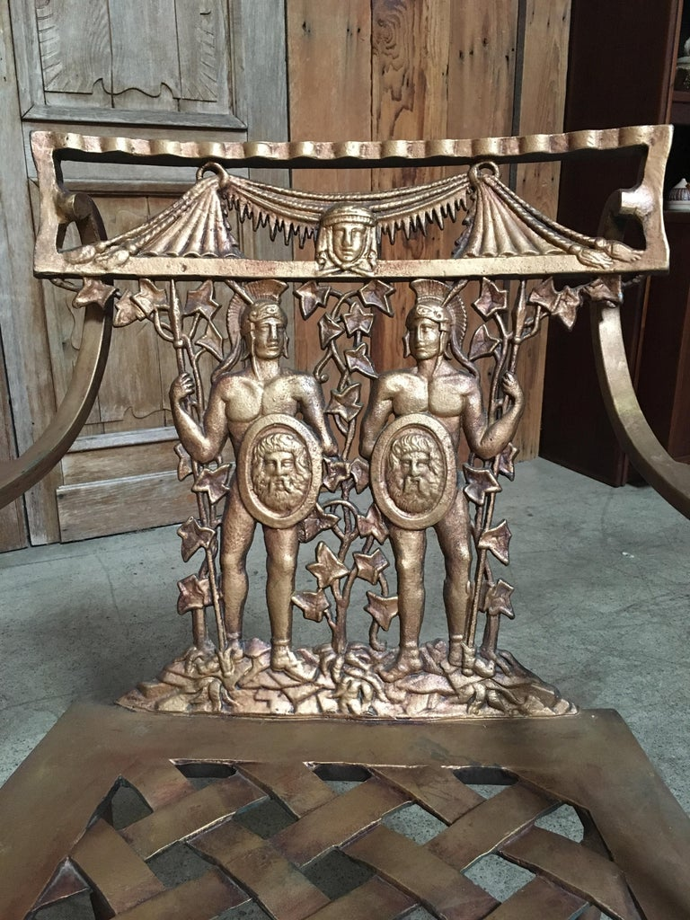 Pair of Romanesque Garden Chairs For Sale 7