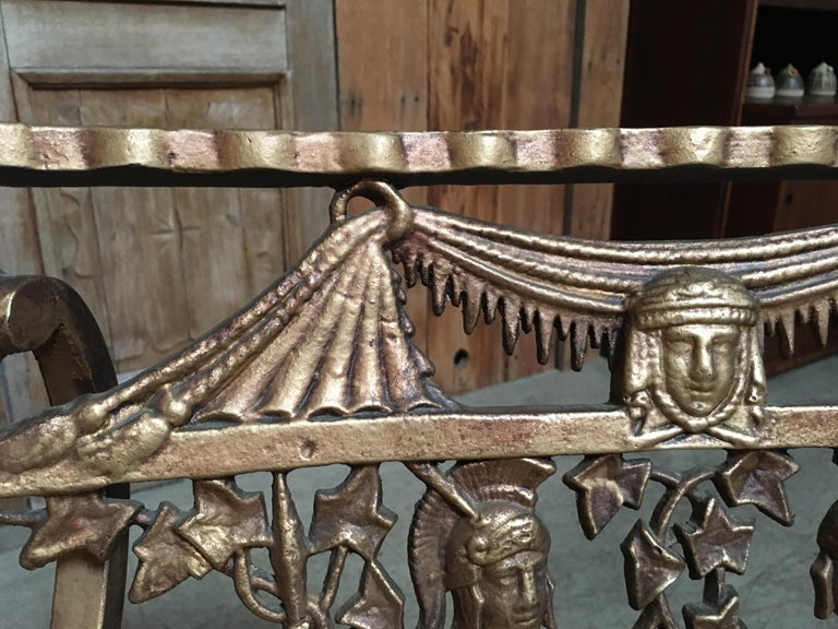 Pair of Romanesque Garden Chairs For Sale 8