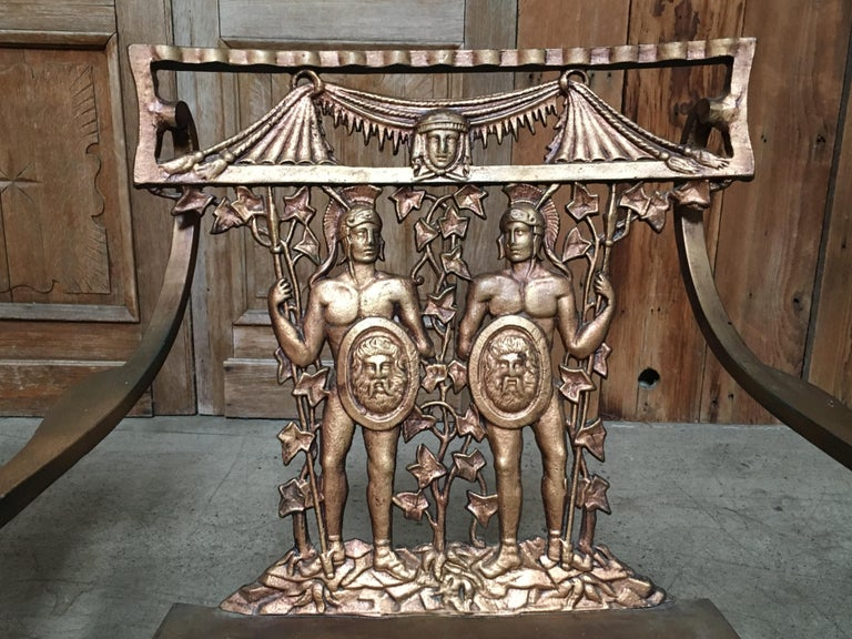 Classical Roman Pair of Romanesque Garden Chairs For Sale