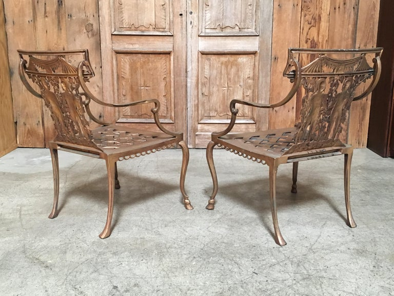 Pair Of Romanesque Garden Chairs For Sale At 1stdibs