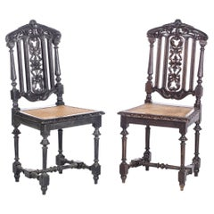 Pair of Romantic Chairs 19th Century