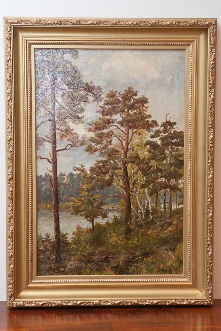 Painted Pair of Romantic Paintings