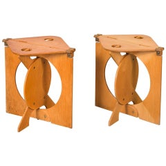 Pair of Rooster Folding Stools by Barry Simpson for Dirt Road