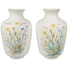 Pair of Rörstrand Hand Decorated Vases