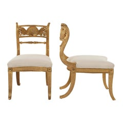 Pair of Rose Tarlow Giltwood Regency Shell Back Chair