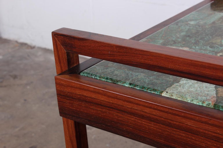 Pair of Rosewood and Agate Tables For Sale 3