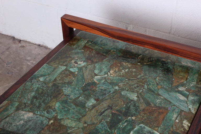 Pair of Rosewood and Agate Tables For Sale 4
