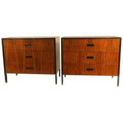 Pair of Rosewood and Mahogany Chests by Harvey Probber