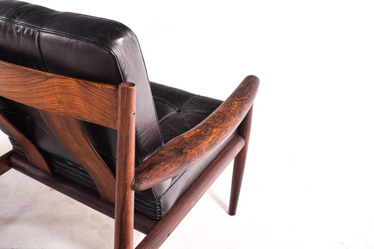 Pair of Rosewood Armchairs by Grete Jalk, Model 118 for France & Son, 1960s For Sale 5