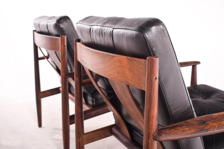 Pair of Rosewood Armchairs by Grete Jalk, Model 118 for France & Son, 1960s For Sale 6