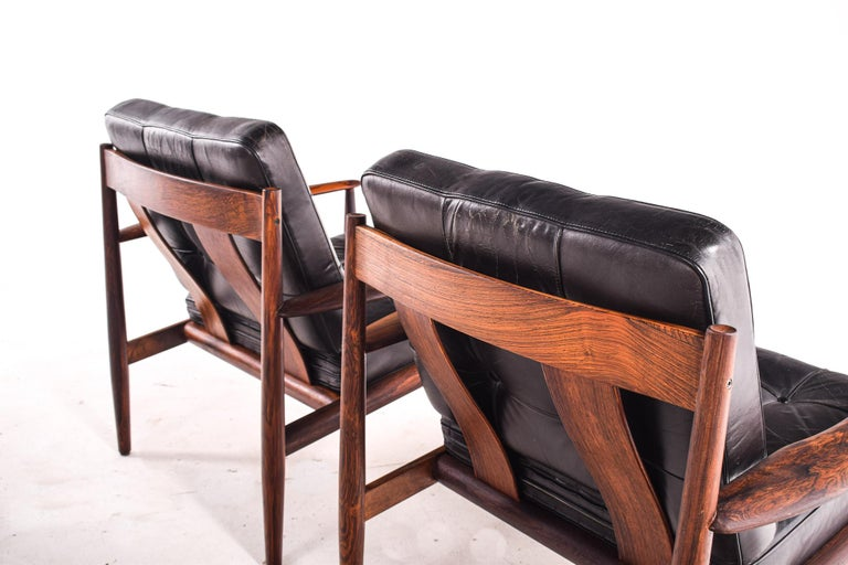 Pair of Rosewood Armchairs by Grete Jalk, Model 118 for France & Son, 1960s For Sale 7