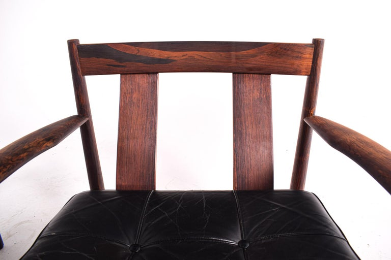 Pair of Rosewood Armchairs by Grete Jalk, Model 118 for France & Son, 1960s For Sale 2