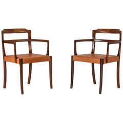 Pair of Rosewood Armchairs by Ole Wanscher for AJ Iversen