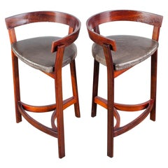Pair of Rosewood Bar Stools by John Mortensen, Denmark