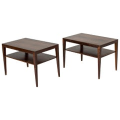 Pair of Rosewood Bedside Tables by Severin Hansen