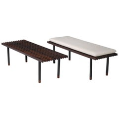 Pair of Rosewood Benches by Campo & Graffi, Italy, 1950s
