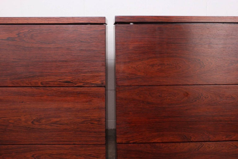 Pair of Rosewood Chests by Florence Knoll For Sale 6