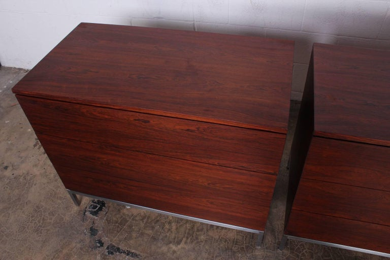 Pair of Rosewood Chests by Florence Knoll For Sale 4