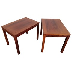 Pair of Rosewood Danish Modern Side Tables