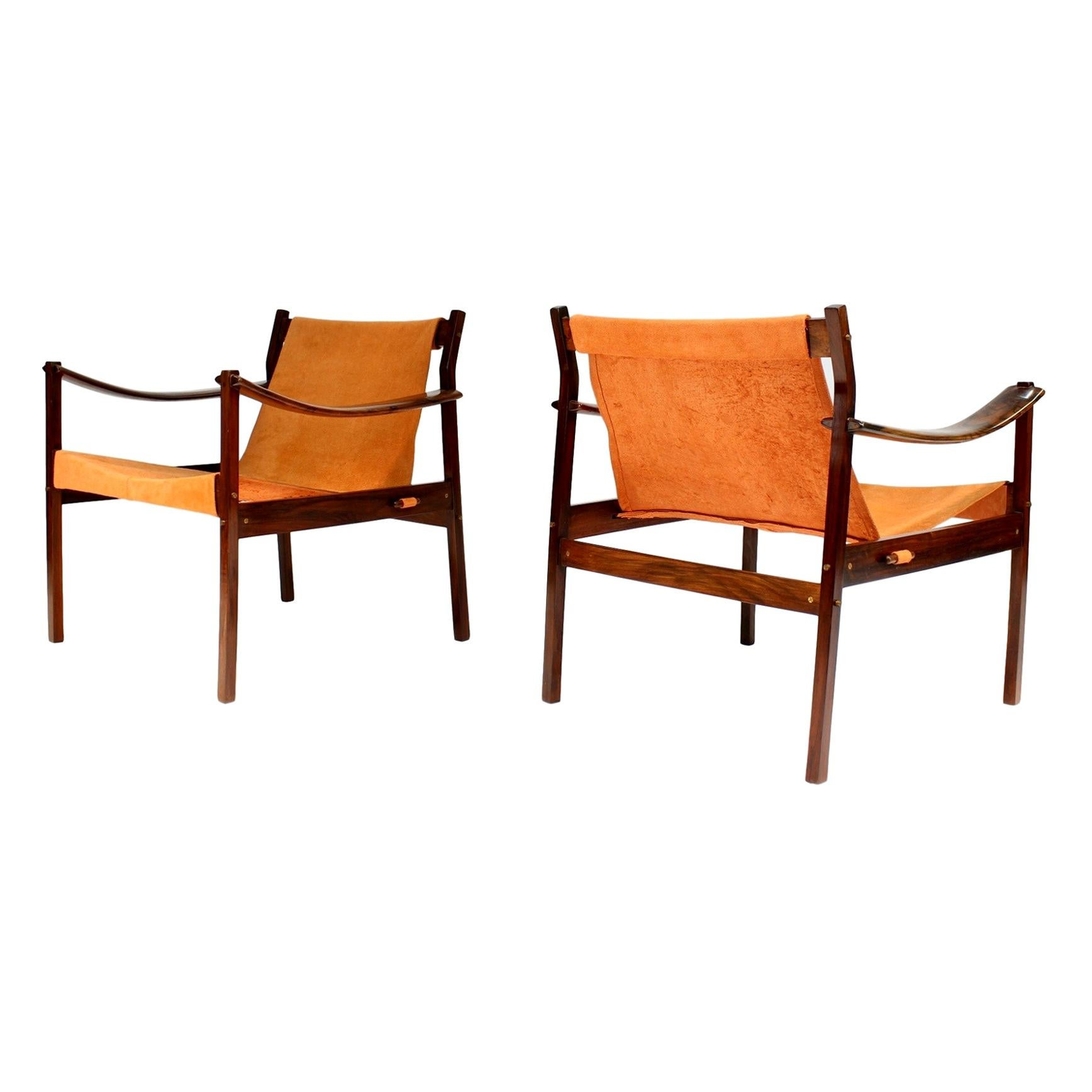 """Jorge Zalszupin for L'Atelier - Pair of Rosewood Lounge Armchairs Model """"720"""""""