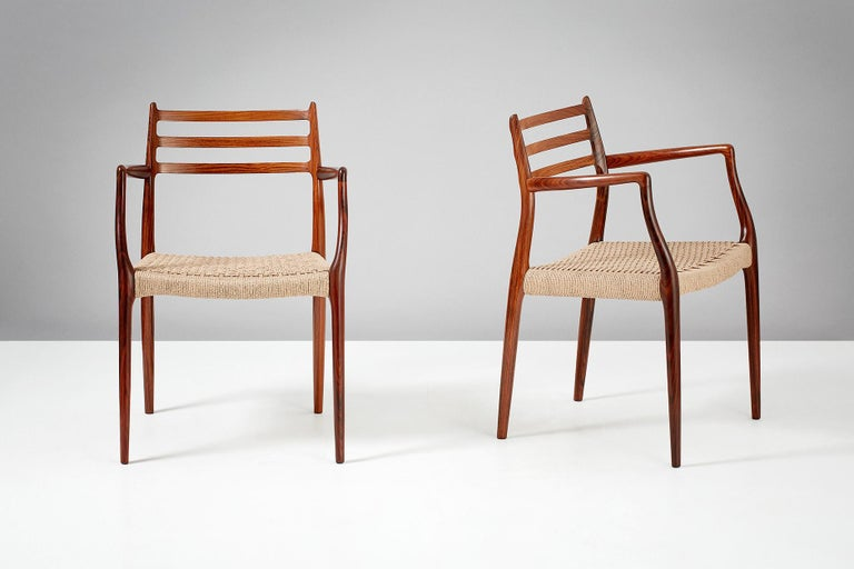 Pair of Rosewood Model 62 Armchairs by Niels Moller, 1962 In Excellent Condition For Sale In London, GB