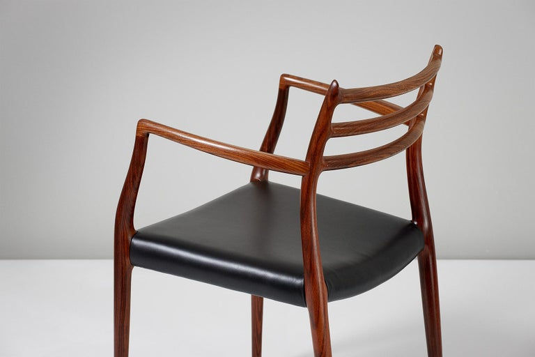 Pair of Rosewood Model 62 Armchairs by Niels Moller, 1962 For Sale 2