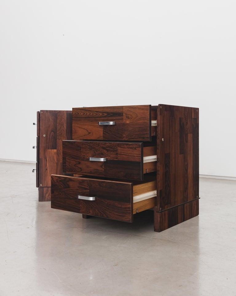 Mid-Century Modern Pair of Rosewood Nightstand Design by Jorge Zalszupin, Brazilian Design For Sale