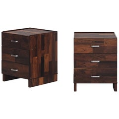 Pair of Rosewood Nightstand Design by Jorge Zalszupin, Brazilian Design